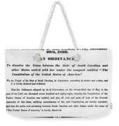 The Union Is Dissolved, 1860 Broadside Weekender Tote Bag