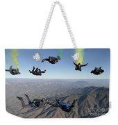 The U.s. Navy Parachute Demonstration Weekender Tote Bag
