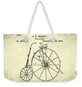 The Velocipede Patent 1880 Weekender Tote Bag