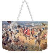 The Victory Of Montcalms Troops At Carillon Weekender Tote Bag by Henry Alexander Ogden