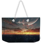 The View From An Alien Moon Towards Weekender Tote Bag