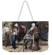 The Village Barber, 1883 Weekender Tote Bag