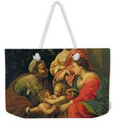 The Virgin And Child With Saints Weekender Tote Bag by Simon Vouet