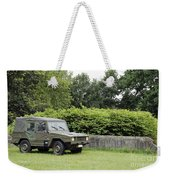 The Vw Iltis Jeep Used By The Belgian Weekender Tote Bag by Luc De Jaeger