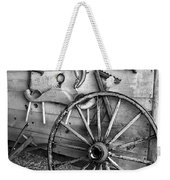 The Wagon Wheel Bw Weekender Tote Bag