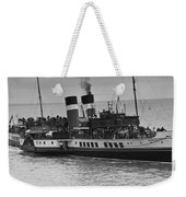 The Waverley Paddle Steamer Mono Weekender Tote Bag