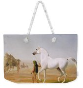 The Wellesley Grey Arabian Led Through The Desert Weekender Tote Bag
