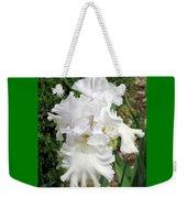 The White Iris Weekender Tote Bag