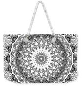 The White Mandala No. 2 Weekender Tote Bag