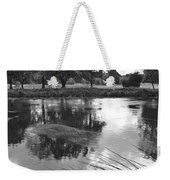 The Wind-swept River Trent At Stapenhill Weekender Tote Bag