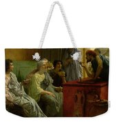 The Wine Shop Weekender Tote Bag by Sir Lawrence Alma-Tadema