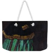 The Woman In The Green Dress Weekender Tote Bag