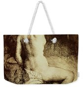 The Woman With The Arrow Weekender Tote Bag