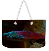 The Wooden Rainbow Trout Weekender Tote Bag
