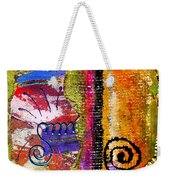 The Woven Stitch Cross Dance Weekender Tote Bag