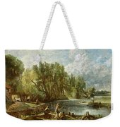The Young Waltonians - Stratford Mill Weekender Tote Bag by John Constable
