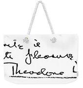 Theodore Dreiser (1871-1945) Weekender Tote Bag