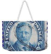 Theodore Roosevelt Postage Stamp Weekender Tote Bag