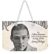 There's A New Star In Heaven Tonight Rudolph Valentino Weekender Tote Bag