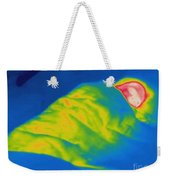 Thermogram Of A Child Sleeping Weekender Tote Bag