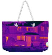 Thermogram Of A Home In Winter Weekender Tote Bag