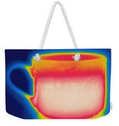 Thermogram Of A Hot Coffee Cup Weekender Tote Bag