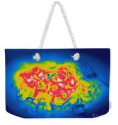 Thermogram Of A Hot Plate Of Spaghetti Weekender Tote Bag