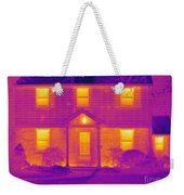 Thermogram Of A House In Winter Weekender Tote Bag
