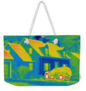 Thermogram Of Car In Front Of A House Weekender Tote Bag