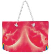 Thermogram Of Lactating Womans Breasts Weekender Tote Bag