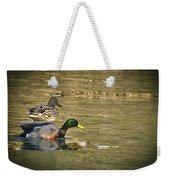 Thin Ice Wet Duck Weekender Tote Bag