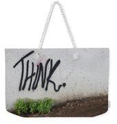 Think Weekender Tote Bag