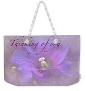 Thinking Of You Greeting Card - Rose Of Sharon Weekender Tote Bag