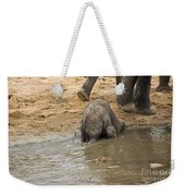 Thirsty Young Elephant Weekender Tote Bag