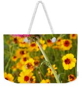 Thistle And Coreopsis 2am-110455 Weekender Tote Bag