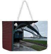 Thomas Edison Depot And Blue Water Bridges 2012 Weekender Tote Bag