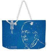 Thomas Edison Lightbulb Patent Artwork Weekender Tote Bag