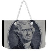 Thomas Jefferson 2 Dollar Bill Portrait Weekender Tote Bag