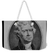 Thomas Jefferson In Black And White Weekender Tote Bag