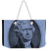 Thomas Jefferson In Cyan Weekender Tote Bag