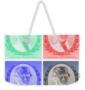 Thomas Jefferson In Negative Colors Weekender Tote Bag