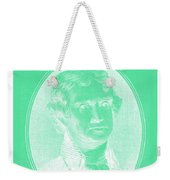 Thomas Jefferson In Negative Green Weekender Tote Bag