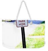 Thou Shalt Not Park Here Weekender Tote Bag