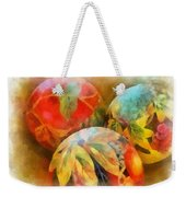Three Balls - Watercolor Weekender Tote Bag