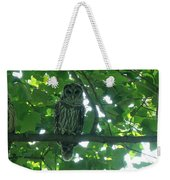 Three Barred Owls Weekender Tote Bag