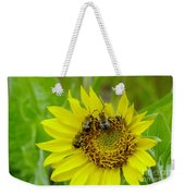 Three Bees Hunkering Down Weekender Tote Bag