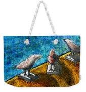 Three Birds Blue Weekender Tote Bag
