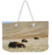Three Bison Weekender Tote Bag