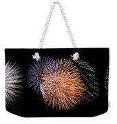 Three Bursts Of Fireworks Four July Two K Ten Weekender Tote Bag