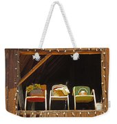 Three Chairs With A View Weekender Tote Bag